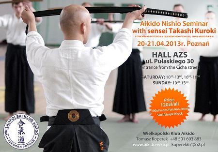 Seminar wtih sensei Takashi Kuroki, Pzonań, 2013