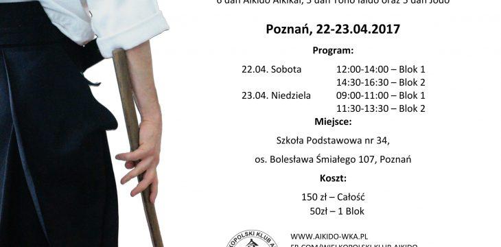 22-23.04.2017 Seminarium Aikido z sensei Takashi Kuroki – Poznań