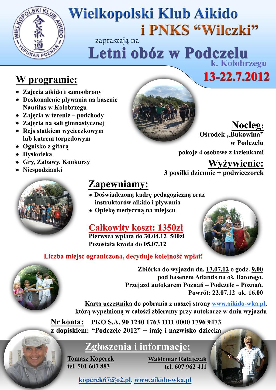 LETNI OBÓZ W PODCZELU 13-22.7.2012